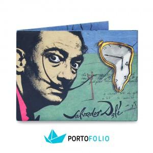 """Тънко портмоне от хартия """"Салвадор Дали"""""""