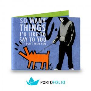 """Тънко портмоне от хартия """"Улично куче"""""""
