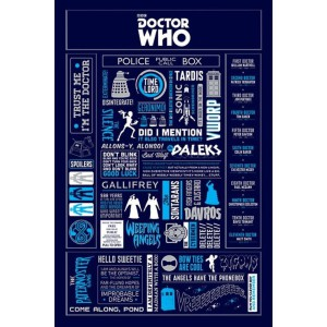 Плакат 18 Dr Who Infographic