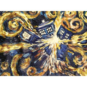 Плакат Doctor Who Exploding Tardis