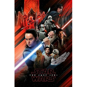 PP34183 Poster - Star Wars Jedi red montage 134
