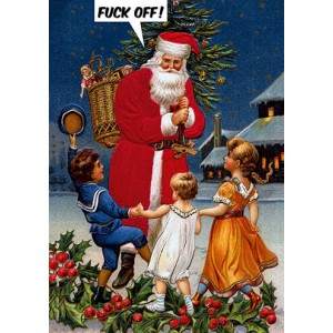 Greeting card | Fuck Off Santa