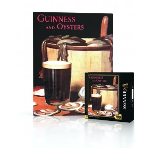 Mini Jigsaw Puzzle Guinness and Oysters 100 Pieces