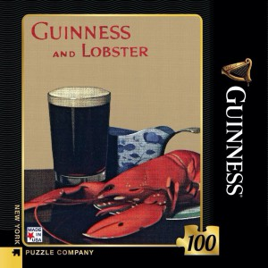 Mini Jigsaw Puzzle Guinness and Lobster 100 Pieces