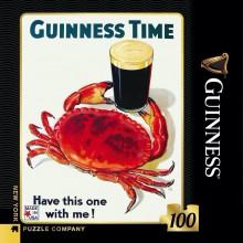 Мини Пъзел Винтидж Постер Guinness Time 100 Парчета
