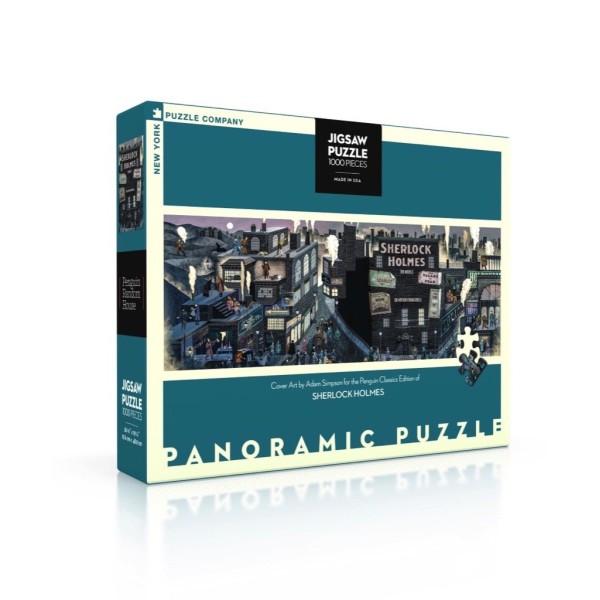 NY Puzzle Co. - Панорамен Пъзел Шерлок Хоумс - Корица 1000 Парчета 1