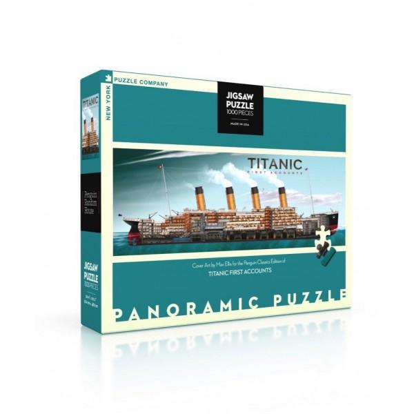 NY Puzzle Co. - Панорамен Пъзел Титаник - Корица 1000 Парчета 1