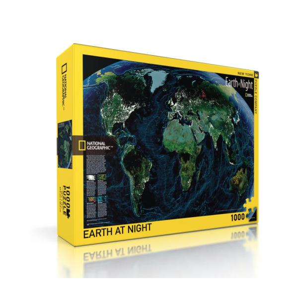 Пъзел National Geographic Земята През Нощта 1000 Парчета 1