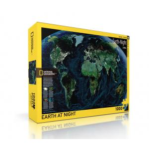 Пъзел National Geographic Земята През Нощта 1000 Парчета