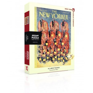 Jigsaw Puzzle New Yorker 06-03-1989 All About the Bass 500 Pieces