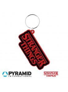 Гумен ключодържател с логото на Stranger Things