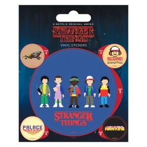 Комплект стикери Stranger Things с формата на аркадна игра