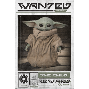 PP34611 Poster 191 - Star Wars The Mandalorian Wanted The Child