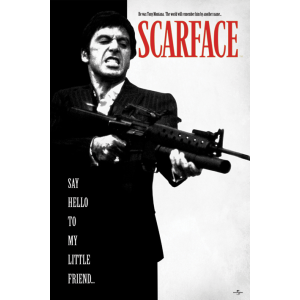 PP32598 Poster 187 - Scarface Say Hello to My Little Friend