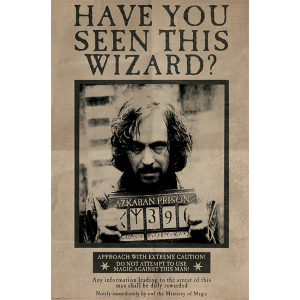 PP33681 Poster 188 - Harry Potter Wanted Sirius Black