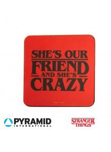 """Подложки за чаша Stranger Things  """"Тя е наша приятелка и е луда"""""""