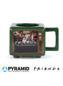 """Термочувствителна ретро чаша с формата на телевизор - """"Приятели"""""""