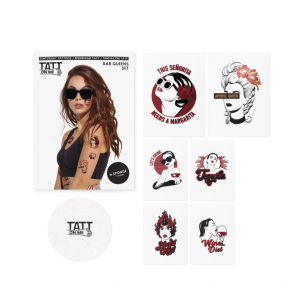 Temporary Tattoos Set Bar Queens 6 Pieces