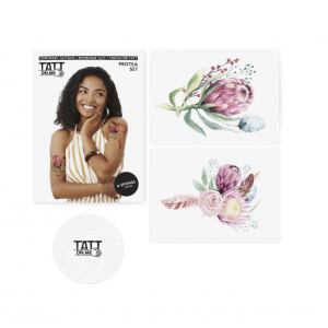 Temporary Tattoos Set Protea Flower 6 Pieces