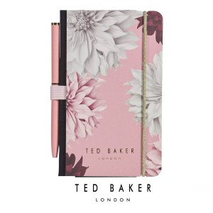 TED708 Ted Baker Mini notebook and pen - pink clove