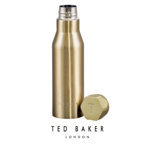 TED535 Ted Baker Water Bottle Gold Hexagonal Lid бутилка