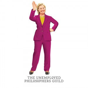 Greeting Card and stickers Hilary Clinton