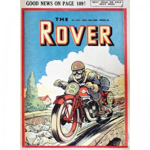 SSA3DC05 Tin Sign Large - The Rover Motorbike
