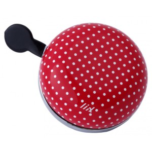 6776 Liix Mini Ding Dong Bell Polka Dots White Red