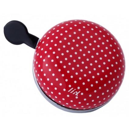 ,,Звънец ,Звънец за колело ,Liix ,Малък червен звънец ,Малък  звънец,Точки