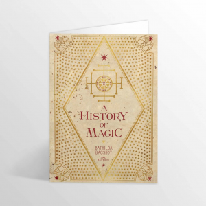 A History Of Magic Foiled Notecard Harry Potter