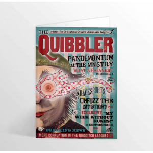 The Quibbler Foiled Notecard Harry Potter