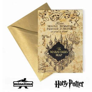 HPCARD28 Marauders Map - Harry Potter