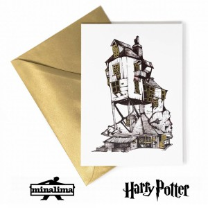 HPCARD56 The Burrow notecard - Harry Potter