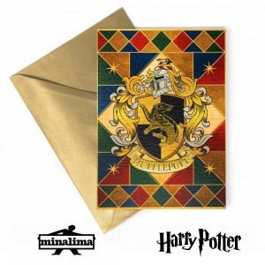 Картичка с герба на дома Хафълпаф
