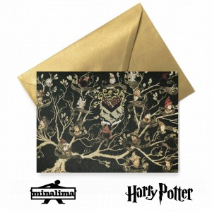 HPCARD40 Harry Potter Giftcard - Black Family Tapestry