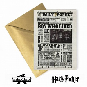 The Daily Prophet - Boy Who Lived Lenticular Card Harry Potter