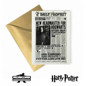 HPCARD14L HP Lenticular Greeting Card - New Headmaster for Hogwarts