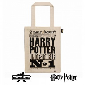 HPTOTE03 Harry Potter Tote Bag - The Daily Prophet Undesirable No1