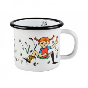 Enamel Espresso Mug Pippi and Mr. Nilsson 150 ml.
