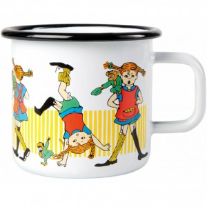 Enamel Mug Pippi Longstocking 370 ml.