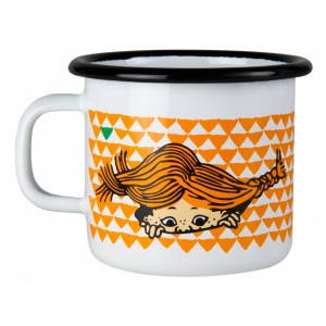 Enamel Mug Pippi Orange 250 ml.