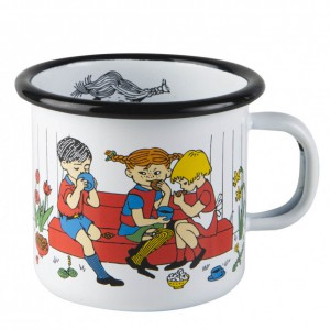 Enamel Mug Pippi and Friends 250 ml.