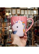 MUGBJA06 Чаша Еднорог Contains Caffeine and Unicorn Dust