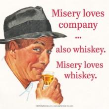 Подложка за чаша MISERY LOVES COMPANY