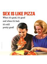 Подложка за чаша SEX IS LIKE PIZZA