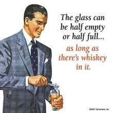 Подложка за чаша THE GLASS CAN BE HALF EMPTY