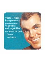 Подложка за чаша Vodka is Made from Potatoes
