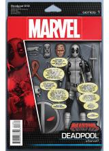 Комикс 2016-08 Deadpool 13 Action Figure Variant Cover