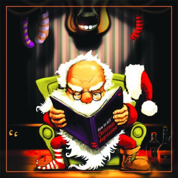 Поздравителна картичка Коледна Депресия 1