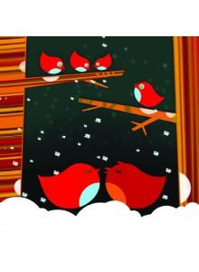Поздравителна картичка Love Birds